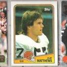 CLAY MATTHEWS (3) Lot - 1988 Topps, 91 Madden, 92 Gold