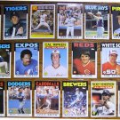 1986 Topps MLB (17) Card Lot w/ Stars / HOF - Sharp