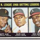 RICO CARTY, MATTY + FELIPE 1967 Topps #240. Crease Free