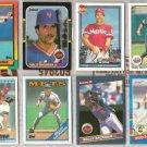 (8) WALLY BACKMAN MLB Card Lot w/ 80's + 90's w/ Traded