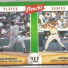 JEFF BAGWELL 1992 French's Series Insert w/ Knoblauch #1 of 18.  ASTROS