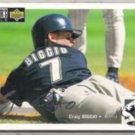 CRAIG BIGGIO 1994 UD CC Silver Signature Insert #456.  ASTROS