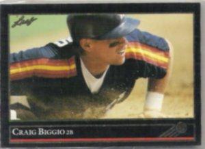 CRAIG BIGGIO 1992 Leaf Black GOLD Insert #315.  ASTROS