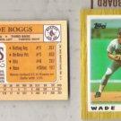 WADE BOGGS (4) Card 1987 Topps Mini Odd Lot #41.