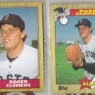 ROGER CLEMENS (2) 1987 Topps #340 + #614 AS.  RED SOX