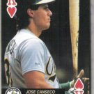 JOSE CANSECO 1992 Aces K Hearts.  A's