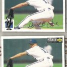DAVE CONE 1994 UD CC Silver Sig. Insert w/ sister.  KC