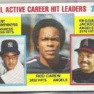ROD CAREW 1984 Topps #711 w/ Reggie.  ANGELS