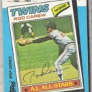 ROD CAREW 1982 Topps KMart #31 of 44.  TWINS