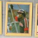 ROD CAREW (3) Card 1984 Fleer Mini Star Stickers Lot.  Diff.