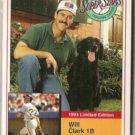 WILL CLARK 1993 Milk Bone #7 of 20.  GIANTS