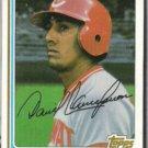 DAVE CONCEPCION 1982 Topps #660.  REDS
