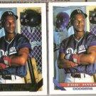 ERIC DAVIS 1993 Topps GOLD Insert w/ sister card #745.  DODGERS