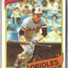 RICK DEMPSEY 1980 Topps #91.  ORIOLES
