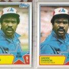 ANDRE DAWSON (2) 1983's w/ Topps + O-Pee-Chee