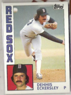 DENNIS ECKERSLEY 1984 Topps #745.  RED SOX