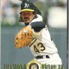 DENNIS ECKERSLEY 1995 Fleer Diamond Tribute Insert #5 of 10.  A's