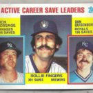ROLLIE FINGERS 1984 Topps Leaders #718.