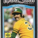 ROLLIE FINGERS 2001 UD World Series HL #175.  A's
