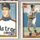 STEVE FINLEY 1991 Topps + Traded.  ASTROS / ORIOLES
