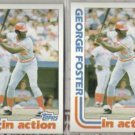 GEORGE FOSTER (2) 1982 Topps In Action #701.  REDS