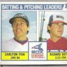 CARLTON FISK 1984 Topps Leaders #216.