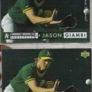 JASON GIAMBI 1994 Upper Deck Electric Diamond Insert w/ sister