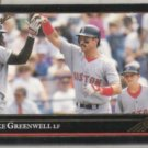 MIKE GREENWELL 1992 Leaf Black GOLD Insert #89.  RED SOX