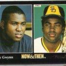 TONY GWYNN 1993 Pinnacle Now + Then #289.  PADRES