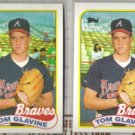 TOM GLAVINE (2) 1989 Topps #157.  BRAVES