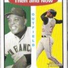 KEN GRIFFEY JR. 2001 Topps Then + Now Insert #TH3 w/ Mays.