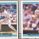 KEN GRIFFEY Jr. 1992 Donruss + All Star.  MARINERS