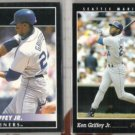 KEN GRIFFEY Jr. 1992 + 1993 Pinnacle.  MARINERS
