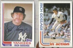 GOOSE GOSSAGE (2) 1982 Topps #770 + #771 IA.  YANKEES