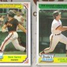 STEVE GARVEY 1984 + 1985 Topps Drake's.  PADRES
