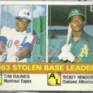 RICKEY HENDERSON 1984 Topps SB Leaders w/ Raines