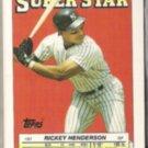 RICKEY HENDERSON 1988 Topps Superstar mini Stickers #51.  NYY