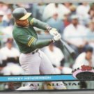 RICKEY HENDERSON 1991 Stadium Club AS #83.  A's
