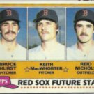 BRUCE HURST 1981 Topps Future Stars #689.  RED SOX