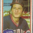 MIKE HARGROVE 1981 Topps #74.  INDIANS