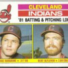 MIKE HARGROVE 1982 Topps #559 w/ BLYLEVEN.  INDIANS