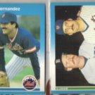 KEITH HERNANDEZ 1987 Fleer #12 + w/ Boggs #637.  METS
