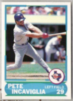 PETE INCAVIGLIA 1988 Score Young Superstar #32 of 40.  RANGERS