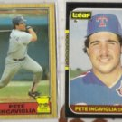 PETE INCAVIGLIA 1987 Topps #550 + 1987 Leaf #185.   RANGERS