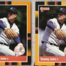 TOMMY JOHN (2) 1988 Donruss Best Odds #220.  YANKEES