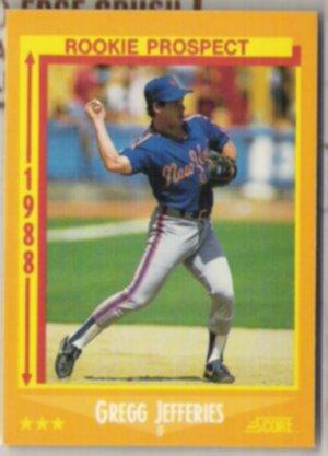GREGG JEFFERIES 1988 Score Rookie Prospect #645.  METS