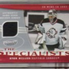RYAN MILLER 2006 UD Power Play (The Specialist) Used Jersey - SABRES
