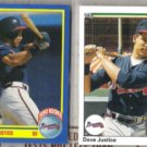 DAVE JUSTICE 1990 Score + UD Rookies.  BRAVES