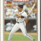 DAVE JUSTICE 1991 Topps RC Glossy #15 of 33.  BRAVES