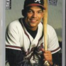DAVE JUSTICE 1995 UD CC Silver Sig. Insert #67.  BRAVES